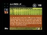 2007 Topps #190  J.J. Putz  Back Thumbnail