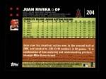 2007 Topps #204  Juan Rivera  Back Thumbnail