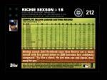 2007 Topps #212  Richie Sexson  Back Thumbnail