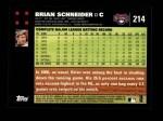 2007 Topps #214  Brian Schneider  Back Thumbnail