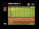 2007 Topps #217  Chris Coste  Back Thumbnail