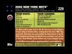 2007 Topps #229   New York Mets Back Thumbnail