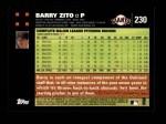 2007 Topps #230  Barry Zito  Back Thumbnail