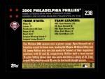 2007 Topps #238   Philadelphia Phillies Back Thumbnail