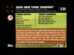 2007 Topps #239   New York Yankees Back Thumbnail