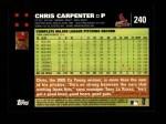 2007 Topps #240   Chris Carpenter Back Thumbnail