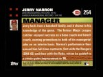 2007 Topps #254  Jerry Narron  Back Thumbnail