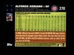 2007 Topps #270  Alfonso Soriano  Back Thumbnail