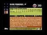 2007 Topps #293  Glen Perkins  Back Thumbnail