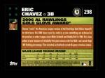 2007 Topps #298   -  Eric Chavez Golden Glove Back Thumbnail
