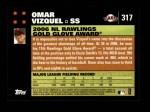 2007 Topps #317   -  Omar Vizquel Golden Glove Back Thumbnail
