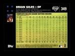 2007 Topps #349  Brian Giles  Back Thumbnail