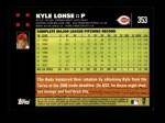 2007 Topps #353  Kyle Lohse  Back Thumbnail