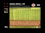 2007 Topps #360  David Ortiz  Back Thumbnail