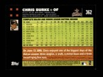 2007 Topps #362  Chris Burke  Back Thumbnail