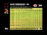 2007 Topps #384  Alex Gonzalez  Back Thumbnail