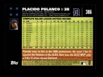 2007 Topps #386  Placido Polanco  Back Thumbnail