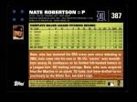 2007 Topps #387  Nate Robertson  Back Thumbnail