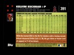 2007 Topps #391  Kelvim Escobar  Back Thumbnail