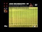 2007 Topps #397  Juan Encarnacion  Back Thumbnail