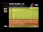 2007 Topps #403  Casey Blake  Back Thumbnail