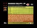 2007 Topps #414  Brandon Phillips  Back Thumbnail