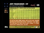 2007 Topps #426  Jeff Francoeur  Back Thumbnail