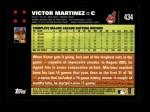 2007 Topps #434  Victor Martinez  Back Thumbnail