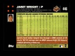 2007 Topps #446  Jaret Wright  Back Thumbnail