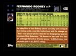 2007 Topps #448  Fernando Rodney  Back Thumbnail