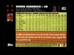 2007 Topps #453  Howie Kendrick  Back Thumbnail