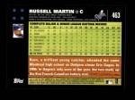 2007 Topps #463  Russell Martin  Back Thumbnail