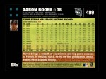 2007 Topps #499  Aaron Boone  Back Thumbnail