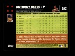 2007 Topps #522  Anthony Reyes  Back Thumbnail