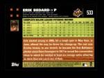 2007 Topps #533  Erik Bedard  Back Thumbnail