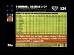 2007 Topps #534  Terrmel Sledge  Back Thumbnail