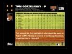 2007 Topps #536  Tom Gorzelanny  Back Thumbnail