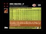 2007 Topps #539  Eric Milton  Back Thumbnail