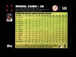 2007 Topps #545  Miguel Cairo  Back Thumbnail