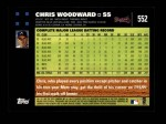2007 Topps #552  Chris Woodward  Back Thumbnail