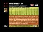 2007 Topps #566  Ryan Freel  Back Thumbnail