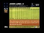 2007 Topps #577  Jason LaRue  Back Thumbnail