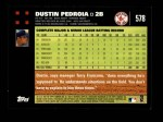 2007 Topps #578  Dustin Pedroia  Back Thumbnail