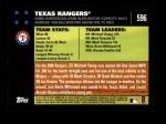 2007 Topps #596   Texas Rangers Back Thumbnail