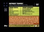2007 Topps #597   Detroit Tigers Back Thumbnail