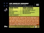 2007 Topps #603   Los Angeles Dodgers Back Thumbnail