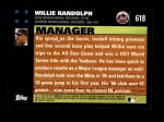 2007 Topps #618  Willie Randolph  Back Thumbnail