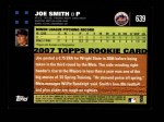 2007 Topps #639  Joe Smith  Back Thumbnail