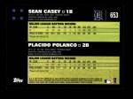 2007 Topps #653   -  Sean Casey / Placido Polanco Classic Combo Back Thumbnail