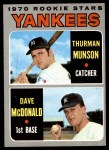 1970 Topps #189   -  Thurman Munson / Dave McDonald Yankees Rookies Front Thumbnail